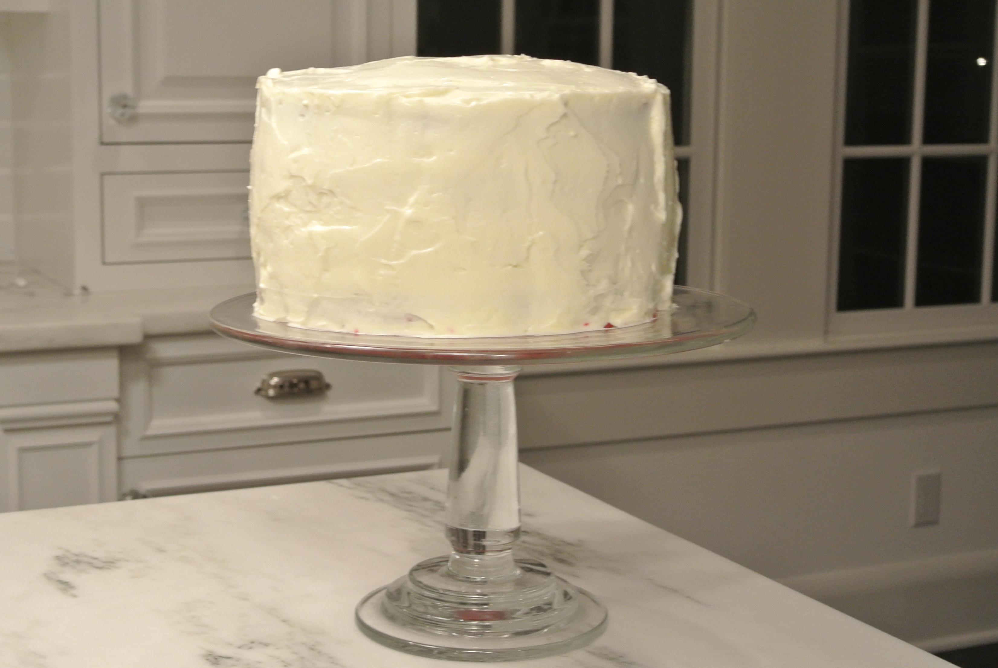 red velvet cake, cream cheese frosting, cake