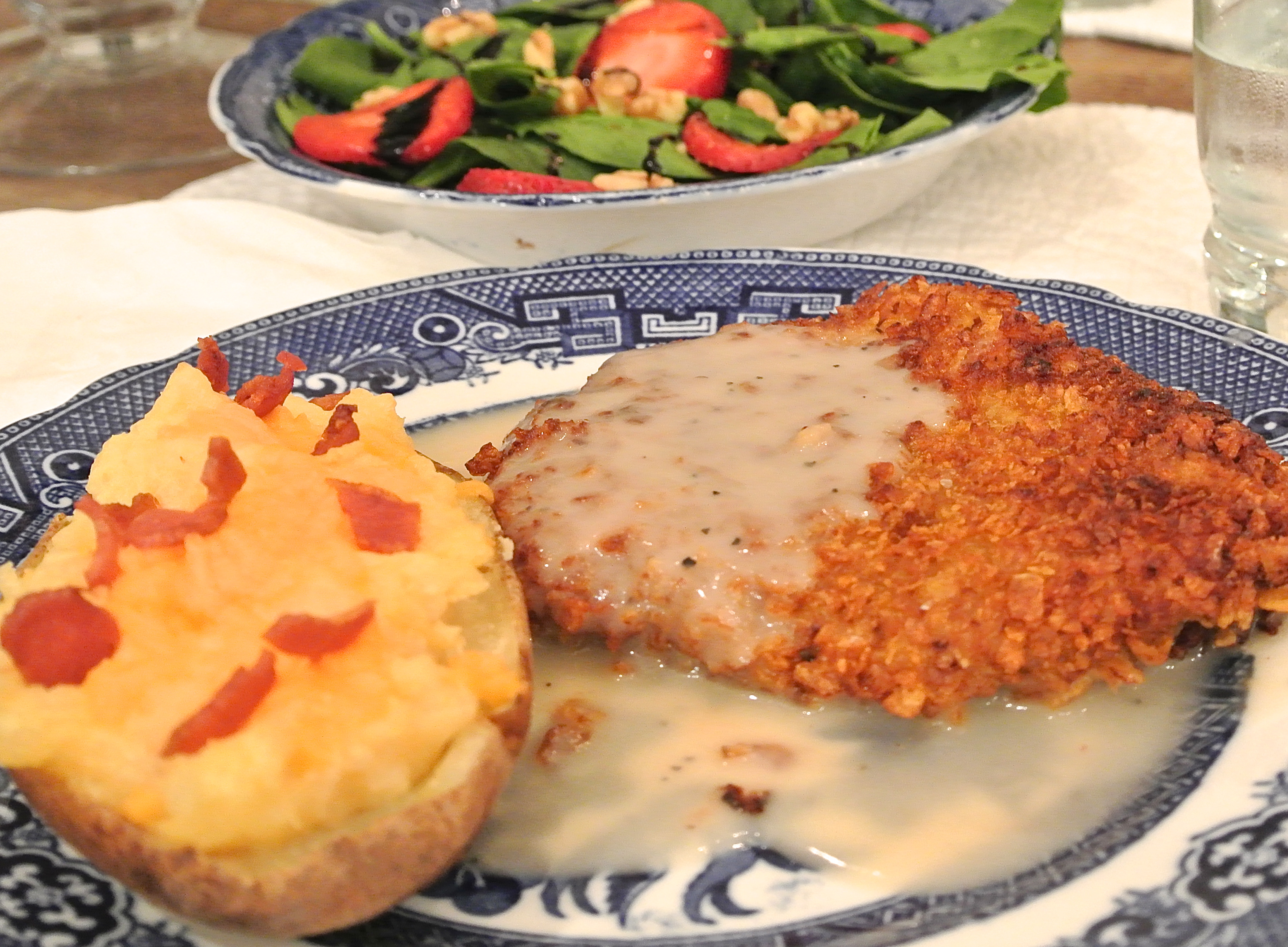 cubed steak and gravy, country fried steak