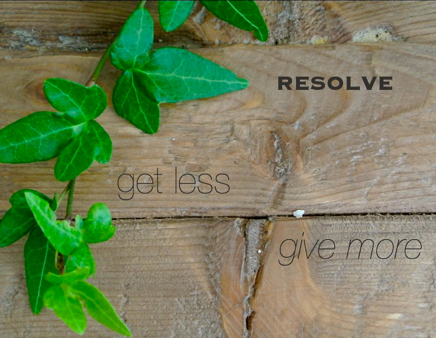 get less, give more