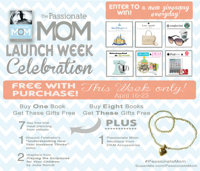 The Passionate Mom Launch week giveaways