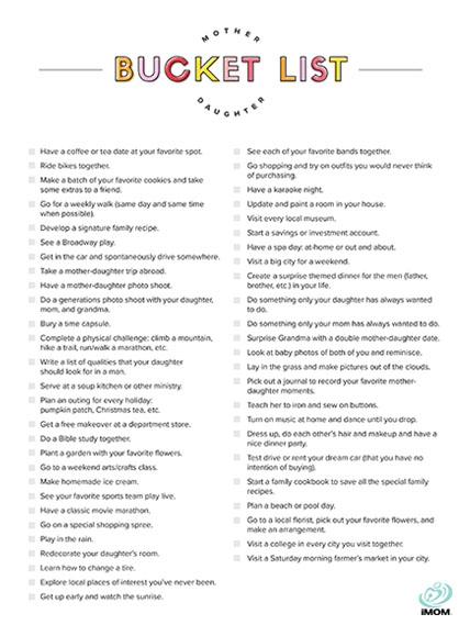 Mother-Daughter Bucket List - Susan Merrill