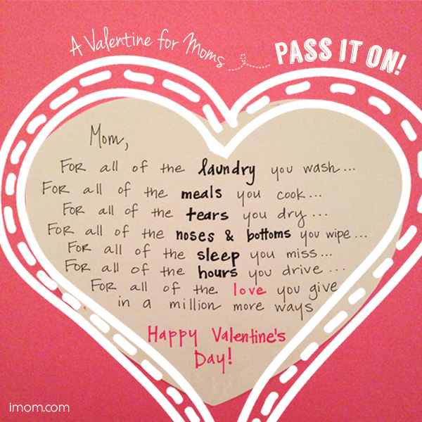 A Valentine for Moms