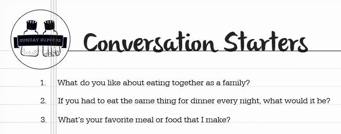 Chicken Parmesan Soup Conversation Starters