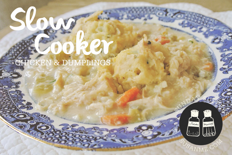 Slow Cooker Chicken and Dumplings and Football Rice Krispies | Susan ...