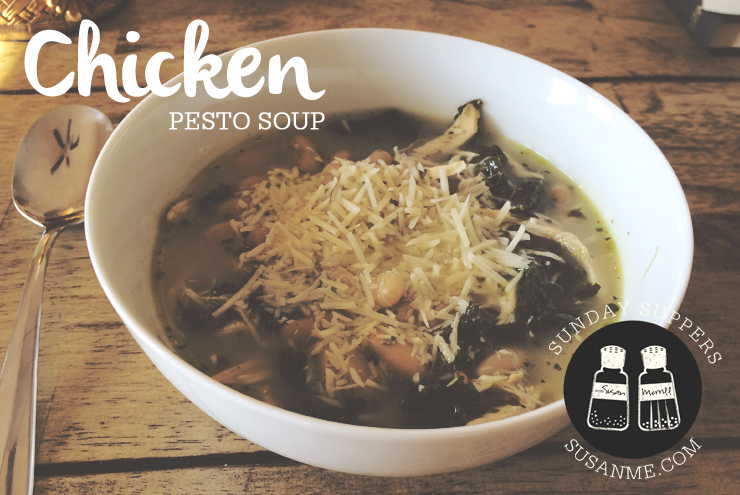 Chicken Pesto Soup