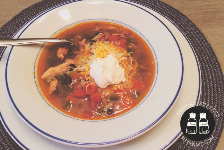 Hearty Chicken Taco Soup