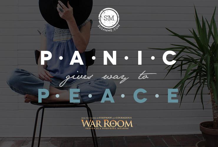 panic give way to peace