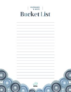 couples bucket list